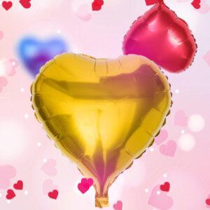 10″ Kalp Folyo Balon
